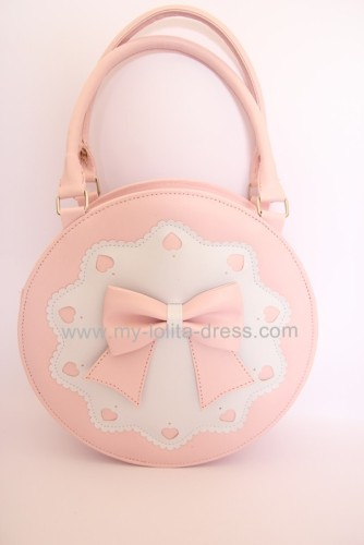 Round Shape Sweet Bow Lolita Handbag