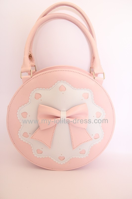 Round Shape Sweet Bow Lolita Handbag