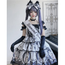 Diamond Honey ~Black Sweet Lady Kitten Lolita JSK -Pre-order