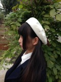 Vision World ~Biscuit~ Embroidery Lolita Beret -out