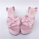 Sweet Pink Square Heels Lolita Sandals