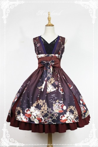 Hyakki Yakō Hone-onna***  Vintage Lolita JSK Dress