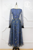 Starry Sky-~ Classic Embroidery Lace OP Dress -OUT