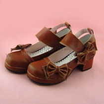 Side Bows Wide Straps Lolita Shoes