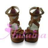 Square Heel Bow Lolita Sandals