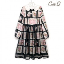 CuteQ-Official~Rose Stamps OP - Black S In Stock