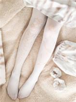 Degradation Of Tilting~120D Gold Stamping  Lolita tights