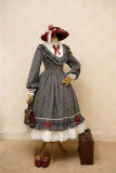 The Florentine Traveller~ College Style Lolita Long Sleeves OP  -Ready Made