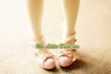 Replica Sweet Lolita High-heeled Shoes with Pearl Chain