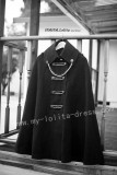 Gothic Wool Black Lady  Lolita Long Cape