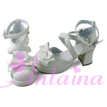 Square Heel Bow Lolita Sandals