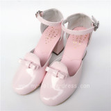 Sweet Pink Glossy Lolita Heels Shoes