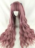 Rosy Brown Plum Curls Lolita Wig
