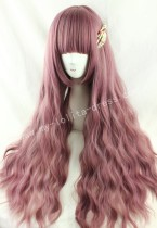 Rosy Brown Plum Curls Lolita Wig