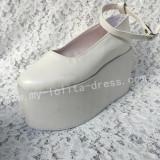 Lady's Sweet Cream White Lolita High Platform