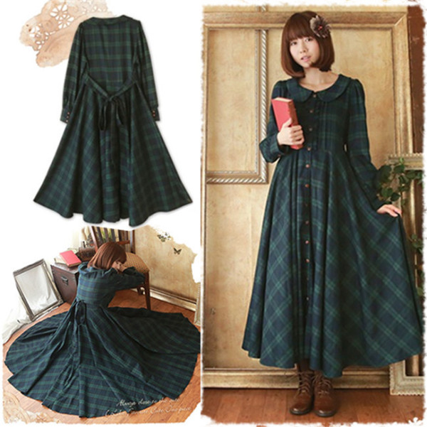 Mori Girl~ Classic Gingham OP Dress