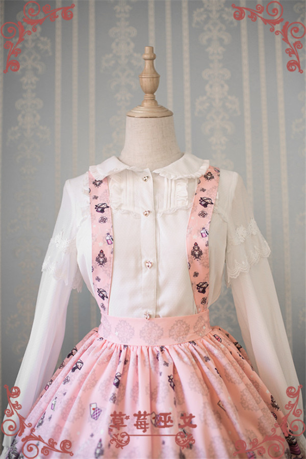Alice in Wonderland~ Chiffon Lolita Long Sleeves Blouse