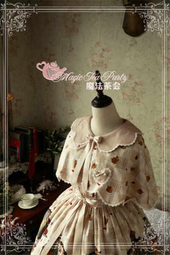 The Squirrel Couple's Afternoon~Lolita Printed Cape