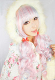 Flattering Pink Light Blue Mixed Lolita Wig