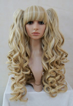 Light Deep Blonde Ponytail Wavy Blended Wig