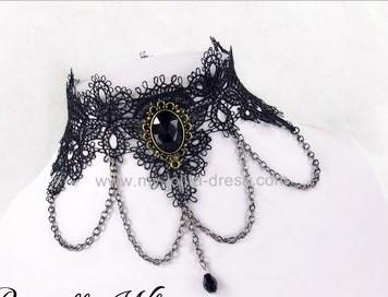 Gothic Black Pendant Adorable Lolita Necklace