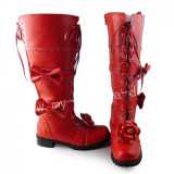 Girl's Sweet Red Lolita Boots