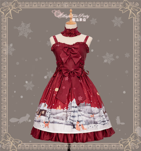 Little Fox Buying Gloves~ Dailywear Lolita JSK