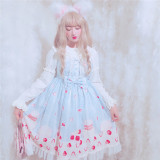 Strawberry Macaron~ Sweet  Lolita JSK -Ready Made