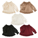 Seashell~ Winter Shirring Lolita Blouse -Ready Made