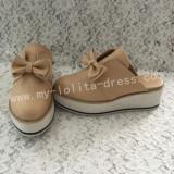 Sweet Matte Brown Lolita High Platform