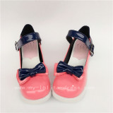 Sweet Girl's Watermelon Red with Royal Blue Lolita Shoes