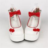 Angelic Imprint- Elegant Bow Embroidery Qi Lolita High Platform Shoes