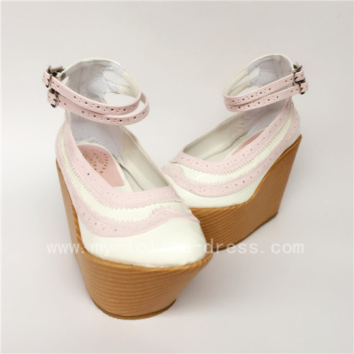 Pink With White Glossy Lolita High Platform