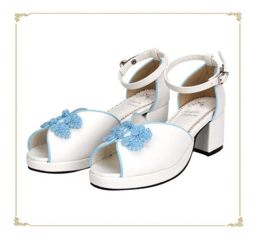 Angelic Imprint- Sweet Plate Buttons Single Belt Qi Lolita Heels Shoes