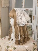 SweetDreamer~Victoria Cotton Lace Handmade Pearls Lolita Headband/Tippet -2 Uses