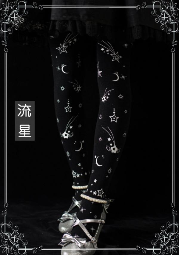 Mola Lolita ~Shooting Stars~ Tights- Navy IN STOCK