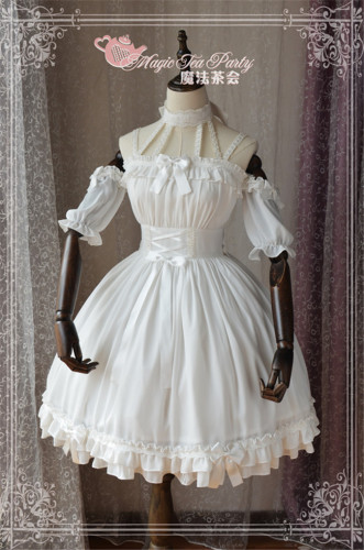 Ballet Wind ~Lolita JSK Dress -Ready Made White Size M In Stock