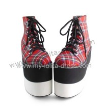 Scotish Gingham Double Color Sole Lolita Shoes