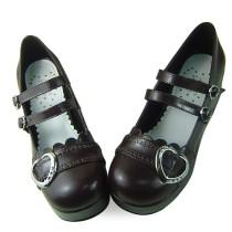 Sweet Heart Dark Coffee Lolita Shoes