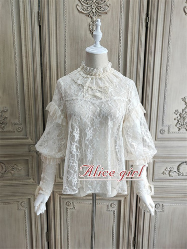 Alice Girl ~When Camellia Blossoms Lolita Blouse -Pre-order