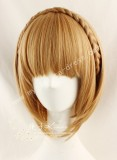 Sweet Brown Face Framing Short Bobo Wig 2 Ponytails