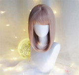 Clouds of Coral&Glass Cyanosis.~ Sweet Lolita Short Curls Wig