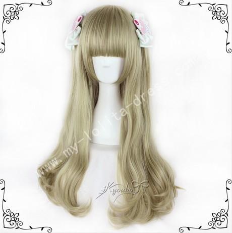 70cm Girl's Dark Goldenrod Lolita Wig