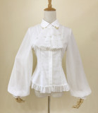 Chiffon Tailored Vintage Lolita Blouse -Ready Made