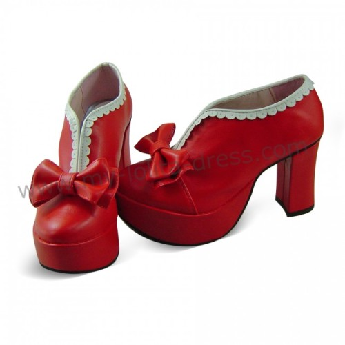 High Heels Bow Lolita Shoes -Clearance