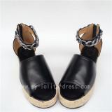 Black Matte Lolita High Platform Shoes