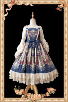 Royal Mural~ Sweet Lolita Printed JSK+Headbow-Ready Made