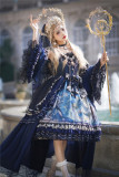 Nine Ode ~Nation of Dawn & Dusk Elegant Normal Waist Lolita JSK -Ready Made