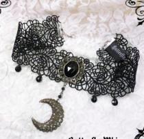 Moon Gothic Lolita Lace Choker