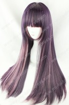 Dark Grape Purple Pink Straight 70cm Gothic Lolita Wig